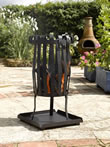 Narrow Garden Fire Basket