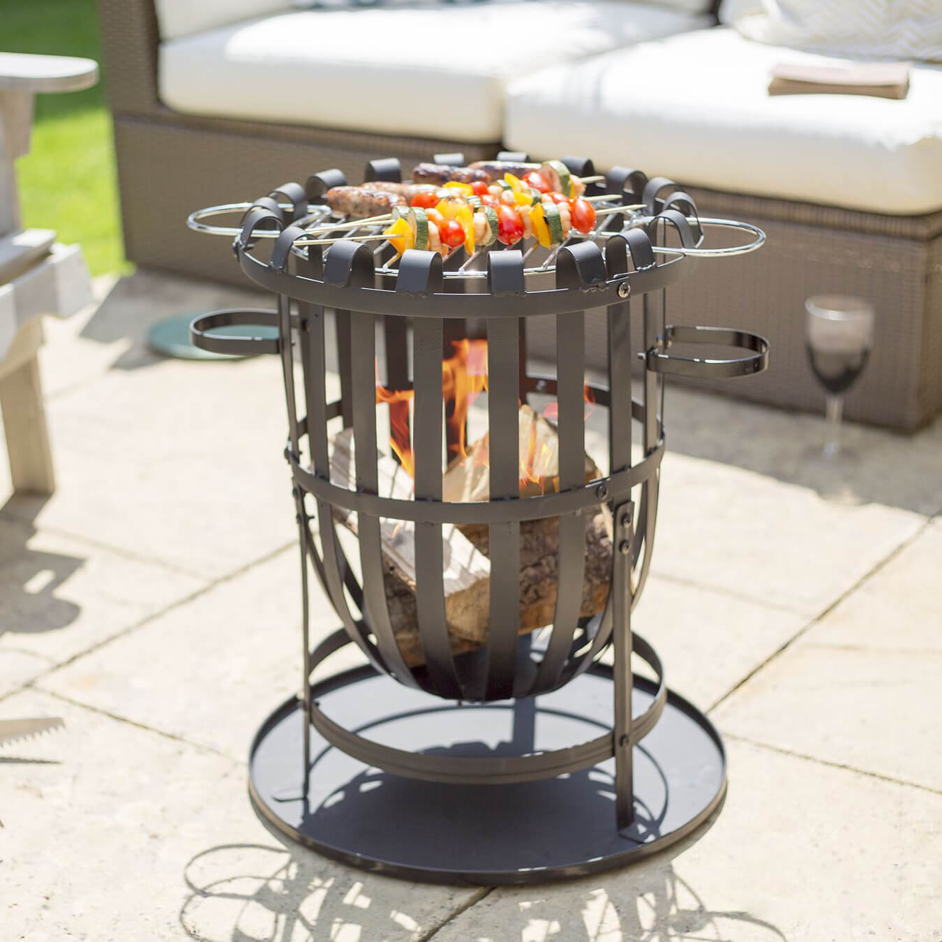 Reviews For Vancouver Large Round Garden Firebasket