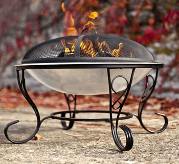 Image of Denver Stainless Steel Fire Bowl By La Hacienda