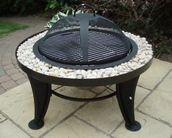 Outdoor Fire Pit And Grill With Stone Surround 163 99 99 At
