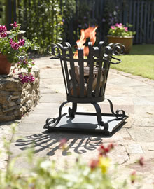 Image of Toronto Small Outdoor Firebasket By La Hacienda