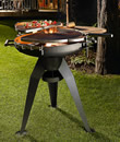 Small Image of Cordoba Outdoor Firepit and Double Grill By La Hacienda