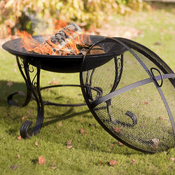 Small Image of San Diego Black Steel Fire Bowl By La Hacienda
