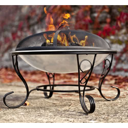 Small Image of Denver Stainless Steel Fire Bowl By La Hacienda