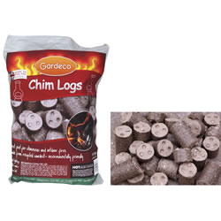 Small Image of Gardeco Chimenea Heat Logs - 10kg Sack