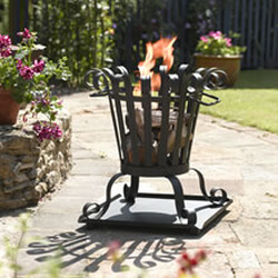 Small Image of Toronto Small Outdoor Firebasket By La Hacienda