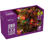 Small Image of Multiaction Multicolour Cluster LED Christmas Lights - 280 Lights