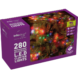 Image of Multiaction Multicolour Cluster LED Christmas Lights - 280 Lights
