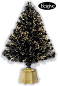 Small Image of Galaxy Fibre Optic Christmas Trees - Black 3ft / 0.9m