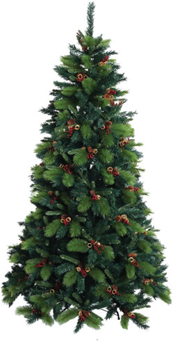 Baltic 8ft Christmas Tree with Cones and Berries - £123.49 ...