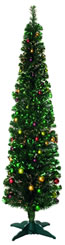 Small Image of Green 180cm (6ft) Fibre Optic Christmas Tree with Balls