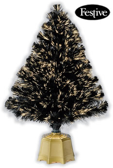 Image of Galaxy Fibre Optic Christmas Trees - Black 3ft / 0.9m