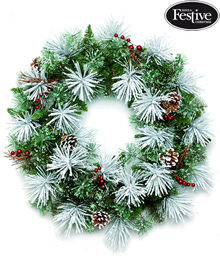 Image of Frosted Bristle Pine Wreath