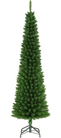 Image of Green Pencil 195cm (6.5ft) Space Saving Christmas Tree