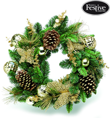 Image of Luxury Christmas Wall/Door Wreath With Butterflies