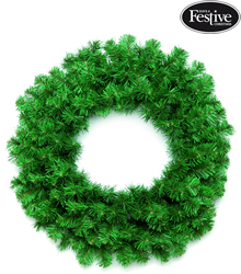 Image of Plain Green Table Top Wreath