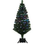 Small Image of Remote Control Green 120cm (4ft) Fibre Optic Christmas Tree