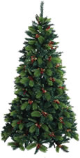 Small Image of Baltic 8ft Christmas Tree with Cones and Berries