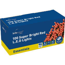Image of Red Multiaction Super Bright LED Christmas Lights - 100 Lights
