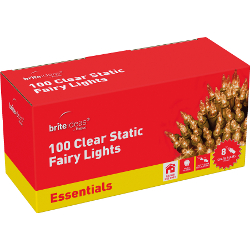 Image of Static Clear Indoor Fairy Lights - 100 Lights