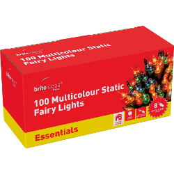 Image of Static Multicolour Indoor Fairy Lights - 100 Lights