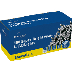 Small Image of White Multiaction Super Bright LED Christmas Lights - 100 Lights