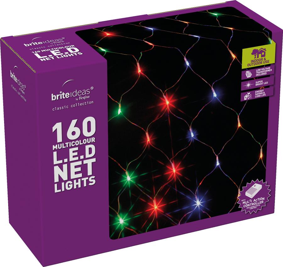 the best attitude cab64 37c2d Multicolour Multiaction LED Christmas Net Lights - 160 Lights