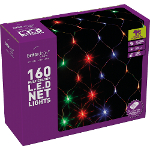Small Image of Multicolour Multiaction LED Christmas Net Lights - 160 Lights