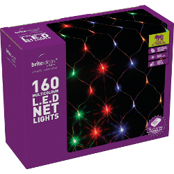 Image of Multicolour Multiaction LED Christmas Net Lights - 160 Lights