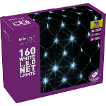 Small Image of White Multiaction LED Christmas Net Lights - 160 Lights