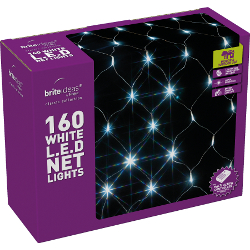 Image of White Multiaction LED Christmas Net Lights - 160 Lights