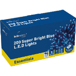 Small Image of Blue Multiaction Super Bright LED Christmas Lights - 200 Lights