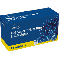 Image of Blue Multiaction Super Bright LED Christmas Lights - 200 Lights
