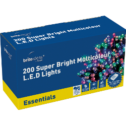 Image of Multicolour Multiaction Super Bright LED Christmas Lights - 200 Lights