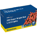 Small Image of Red Multiaction Super Bright LED Christmas Lights - 200 Lights