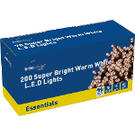 Small Image of Warm White Multiaction Super Bright LED Christmas Lights - 200 Lights