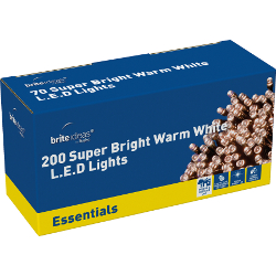 Image of Warm White Multiaction Super Bright LED Christmas Lights - 200 Lights