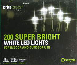Image of Multifunction Outdoor White LED Lights 200