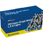 Small Image of White Multiaction Super Bright LED Christmas Lights - 200 Lights