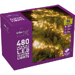 Small Image of Multiaction Warm White Cluster LED Christmas Lights - 480 Lights