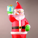 Small Image of Inflatable 240cm (8ft) Santa Holding a Present