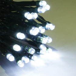 Image of Multifunction Outdoor White LED Lights - String of 80 Lights