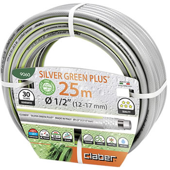 Image of Claber Silver Green Hosepipe 12.5mm - 25 Metres