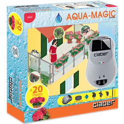 Small Image of Claber Aqua-Magic Solar Powered Automatic Watering Kit