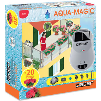 Image of Claber Aqua-Magic Solar Powered Automatic Watering Kit