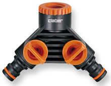 Image of Claber Double tap Connector