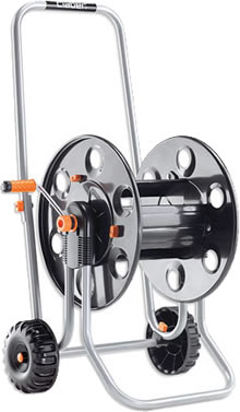 The Claber Metal 60 Hose Reel is onstructed entirely of metal. It
