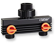 Image of Claber Two Way Tap Adaptor