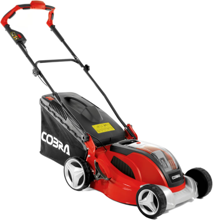 Cordless Lawn Mower : Cobra quot cordless mower with v li ion battery £