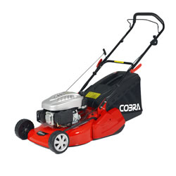Small Image of Cobra 46cm Petrol Push Mower with Rear Roller - RM46C